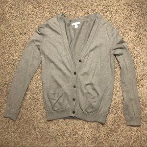 Gap Light Brown V-neck Cardigan Sweater